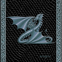 Draco Token Z, Silver on Black by Sue Ellen Brown