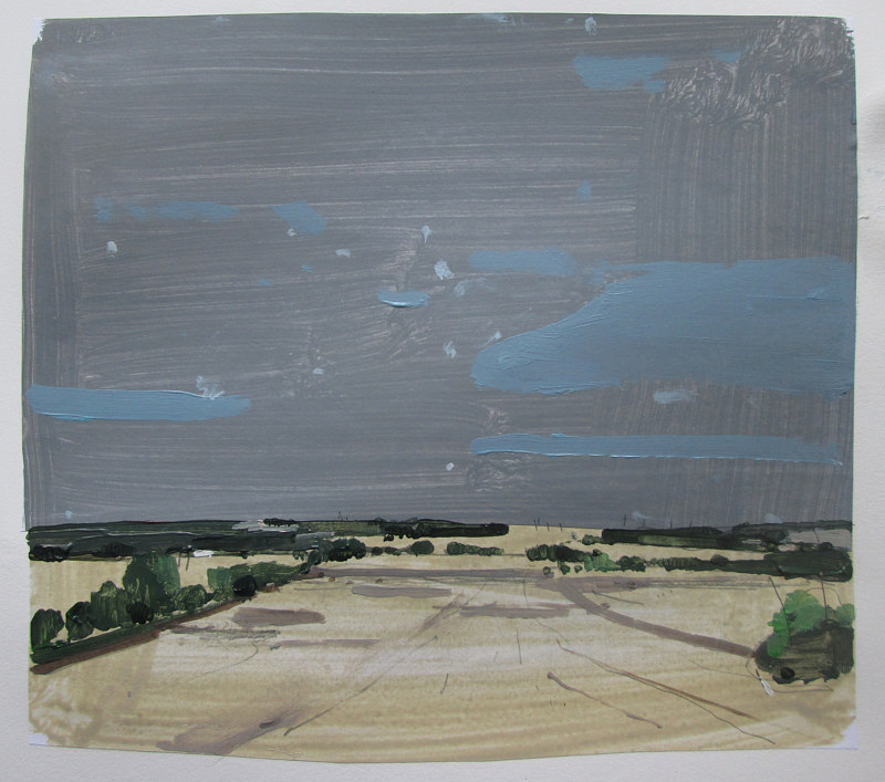 Acrylic painting Eastern Fields by Harry Stooshinoff