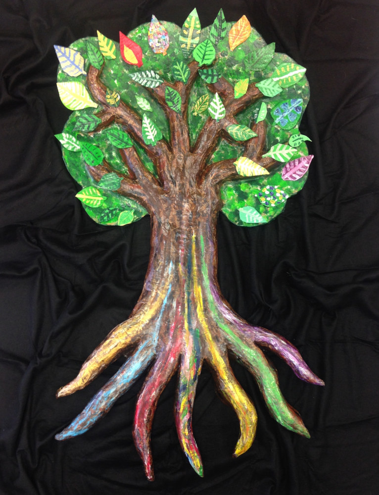 Painting Tree Scuplture- Pathways To Education  by Pamela Schuller