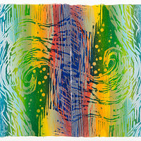 "Print Surge (17""X21"" diptych) by Cathie Crawford"