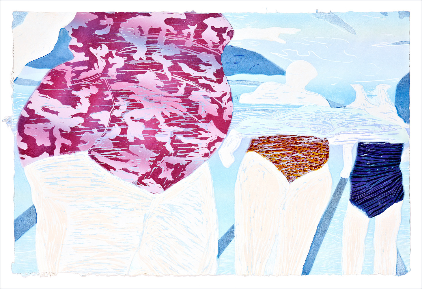 "Print Lovely Legs   (24""X36"") by Cathie Crawford"