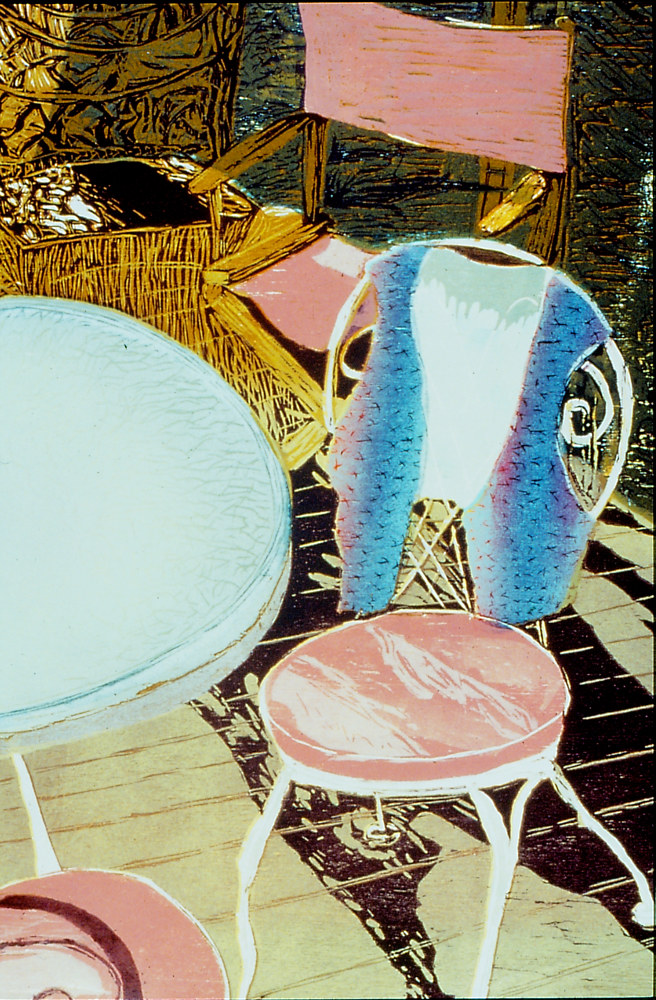 "Table Talk  (36""X24"") by Cathie Crawford"