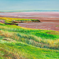 Oil painting Tantramar Shoreline by Michael McEwing