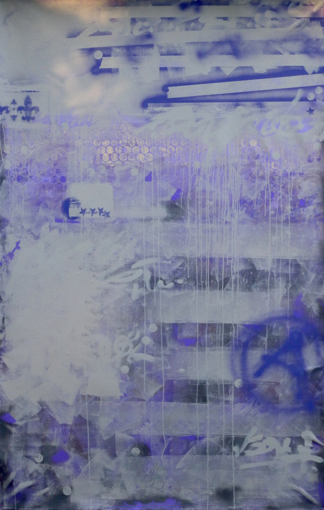 Acrylic painting Purple Rain by Gordon Sellen