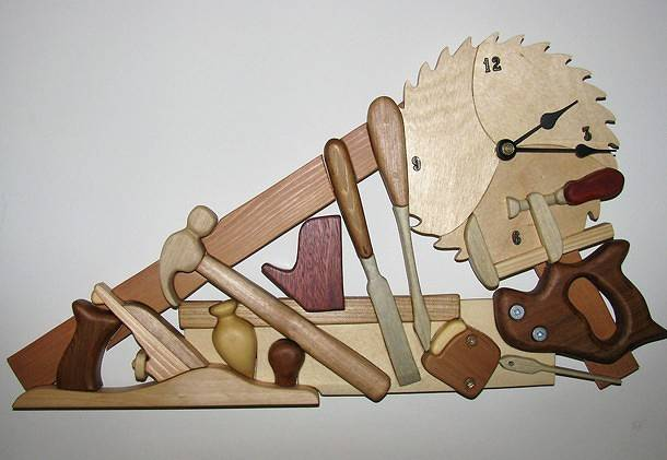 Woodworkers clock by Vicki Allesia