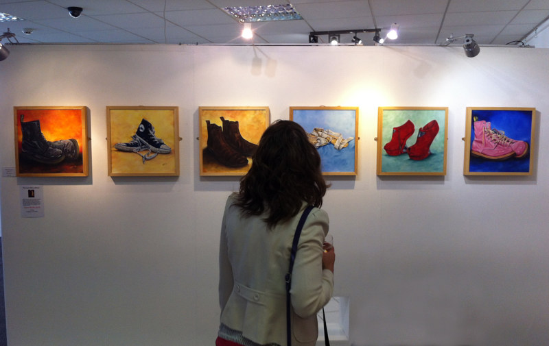The Shoe Series on show at the Willow Gallery, Oswestry by Richard Mountford