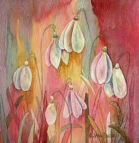 Watercolor Snowdrops by Vicki Allesia