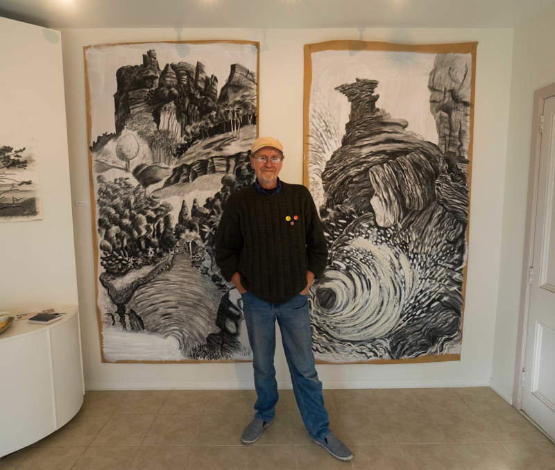 Drawing This Land Exhibition, Otaki, NZ. June-Aug 2016 by Trevor Pye