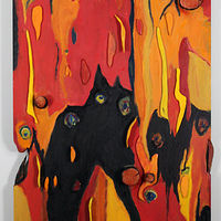 Oil painting Inferno by Gary Eleinko
