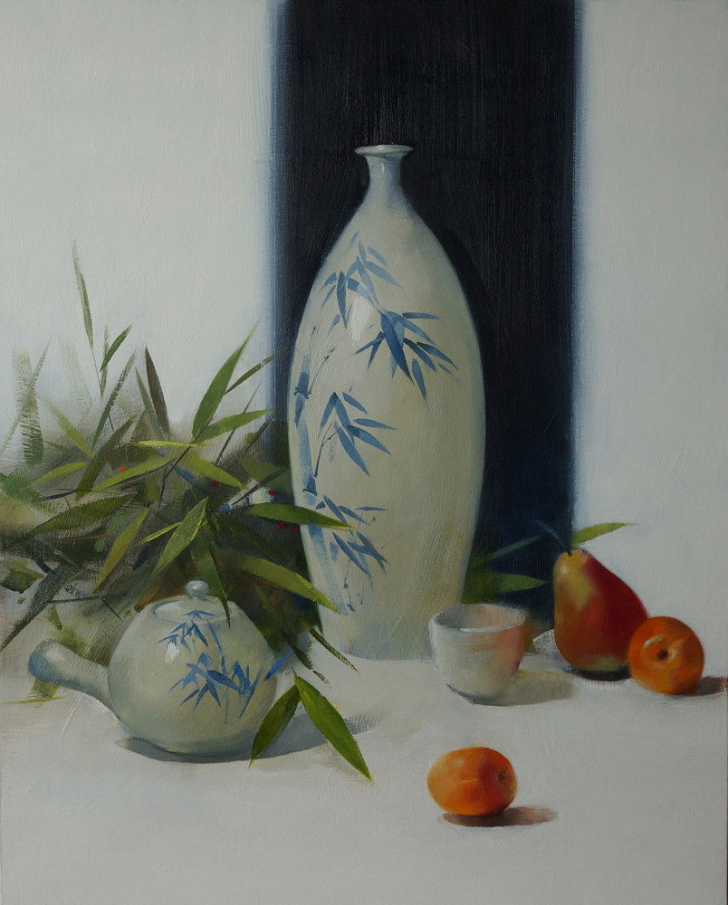 Oil painting Still life with Ceramics by Eunice Sim
