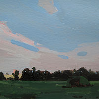 Acrylic painting Evening Sweep by Harry Stooshinoff