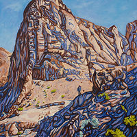 Oil painting Peaks & Shadows by Crystal Dipietro