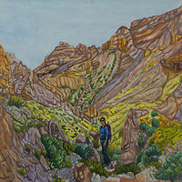 Oil painting Down Canyon by Crystal Dipietro