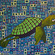 Acrylic painting Sea Turtle by Donna Howard