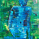 Acrylic painting Blue Nude by Donna Howard