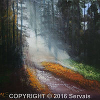 Acrylic painting Deep Woods Walk by George Servais