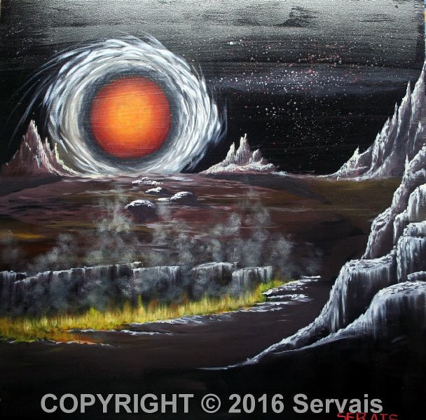 Acrylic painting Doom Arrives by George Servais