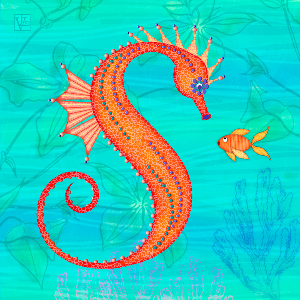 S is for Seahorse by Valerie Lesiak