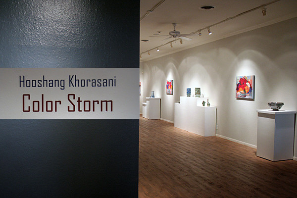 'Color Storm' solo exhibition, Rockport (TX) Center for the Arts by Hooshang Khorasani