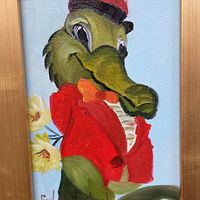Oil painting  Gator Courting by Barbara Haviland