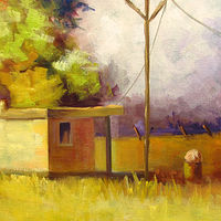 Oil painting Shed Study  by Barbara Haviland