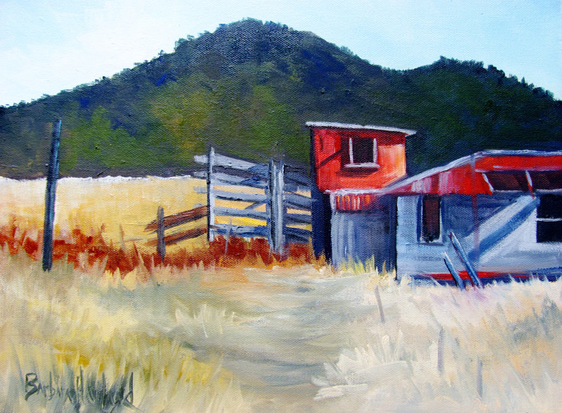 Oil painting Red  Shed Workshop #42  by Barbara Haviland