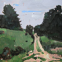 Acrylic painting Easement Path by Harry Stooshinoff