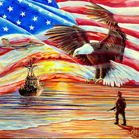 old glory print by Richard Ficker