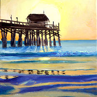 Print Pier Sunrise by Richard Ficker
