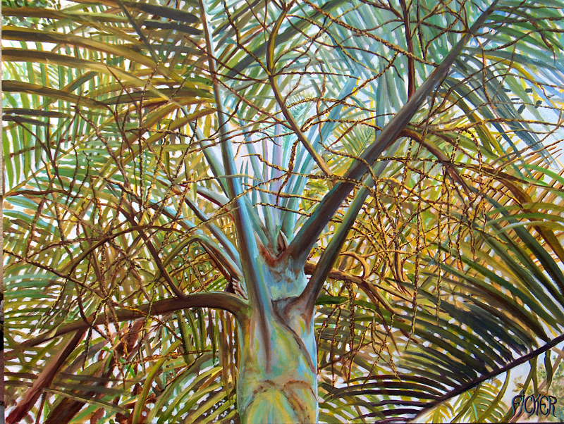 Painting Zoo Palm by Richard Ficker