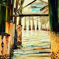 Print Cocoa Beach Pier by Richard Ficker