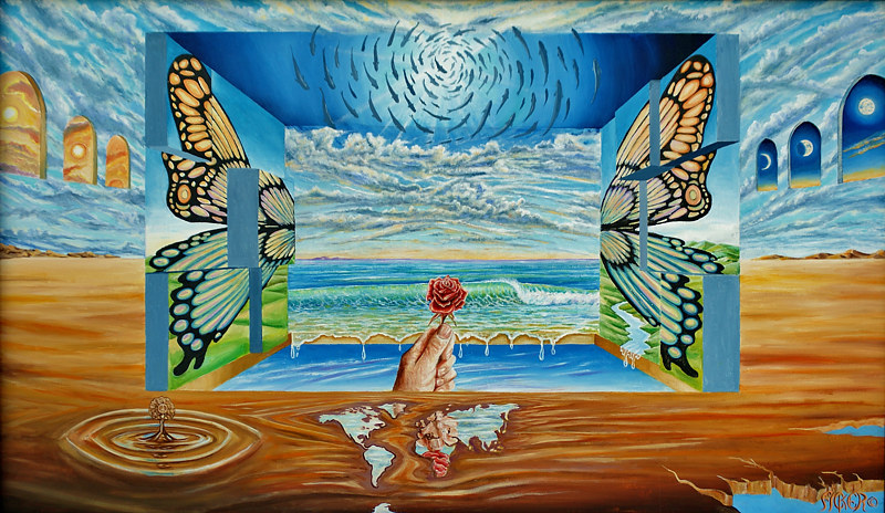 Oil painting Metamorphosis by Richard Ficker