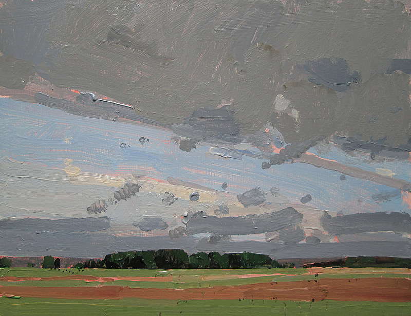 Acrylic painting August End, Bobby's Field by Harry Stooshinoff