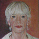 Oil painting Self Portrait by Judith  Elsasser