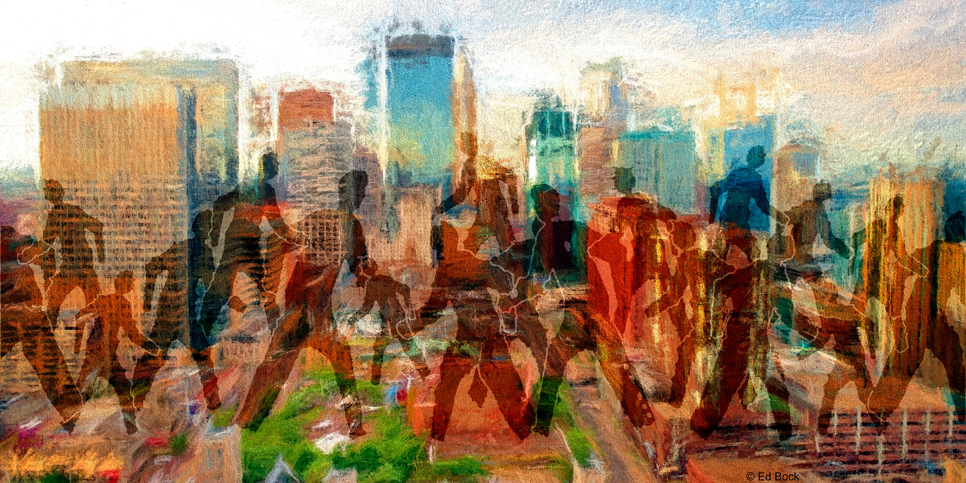Print Crosstown Rush - Minneapolis Impression by Edward Bock