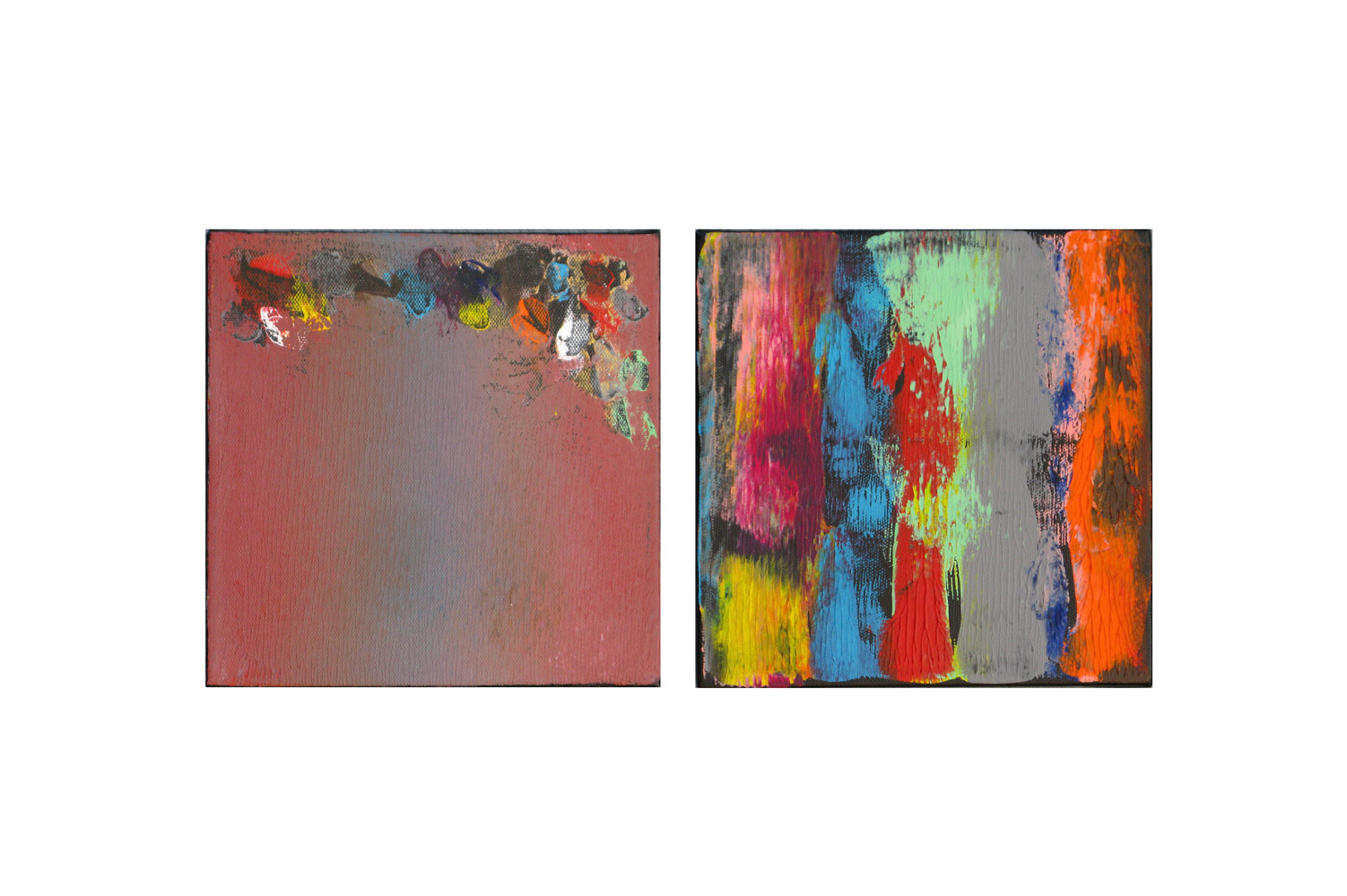 Acrylic painting Color Storm Contrast, 8x8 inches each by Hooshang Khorasani