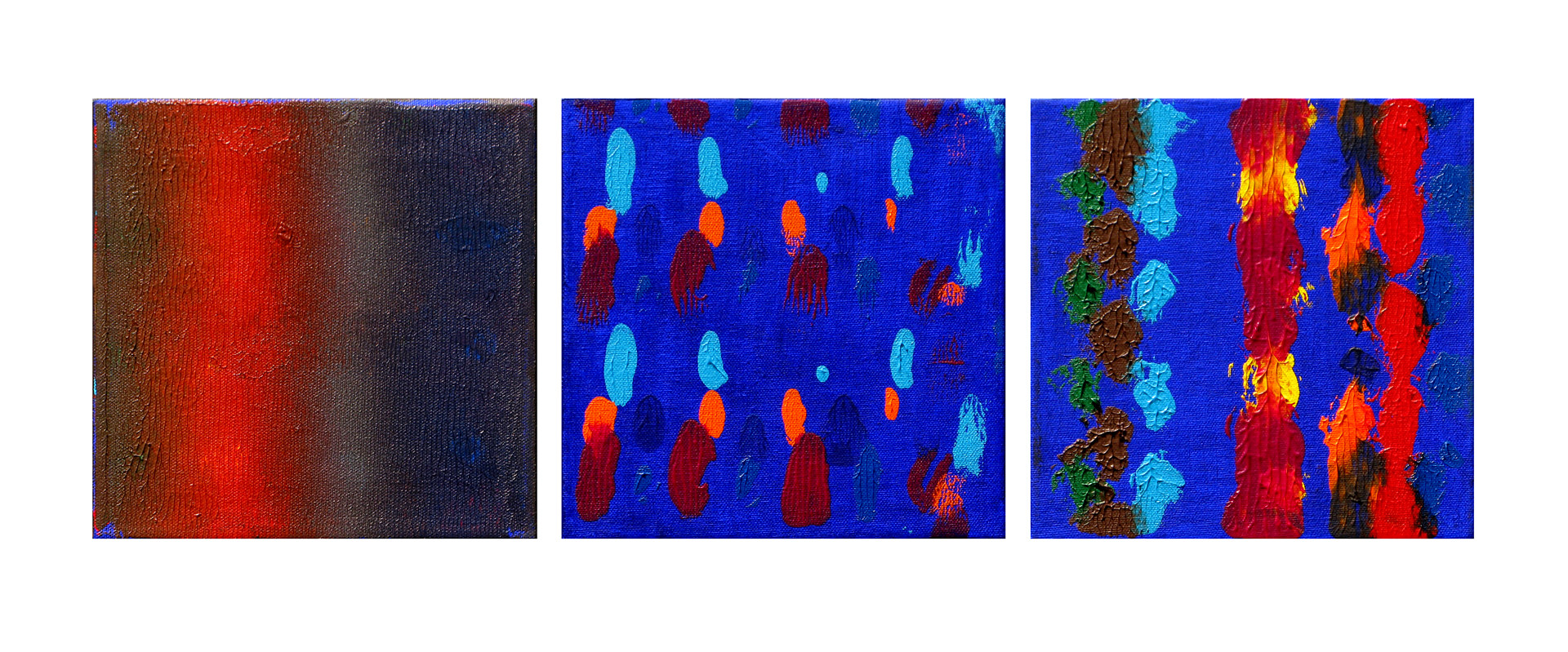 Acrylic painting Light of the Night, 8x8 inches each by Hooshang Khorasani
