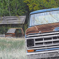 Oil painting Built to Last by David B. Scott