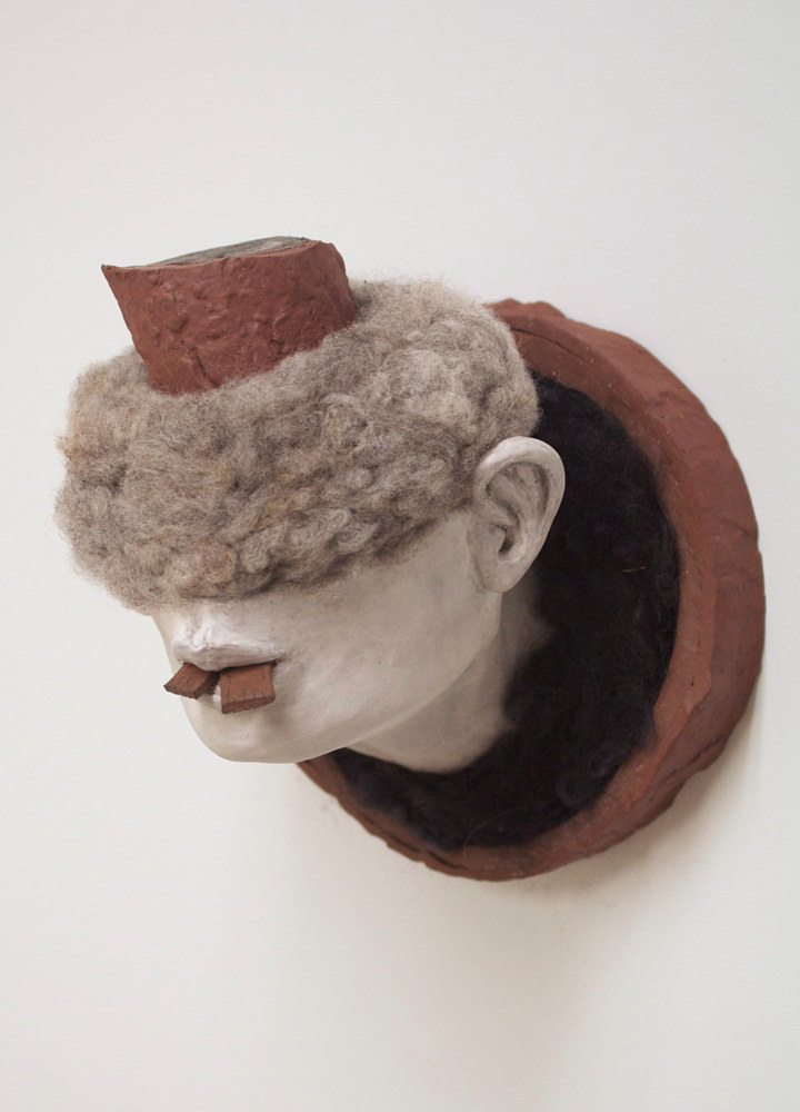 ceramic figure study (acorn head) by Matthew  Dercole