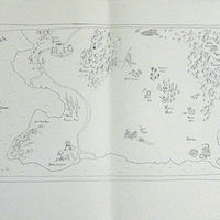 Drawing map by Matthew  Dercole