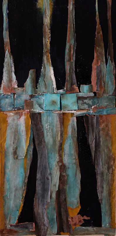 Mixed-media artwork Bayou 913 by Steve Latimer