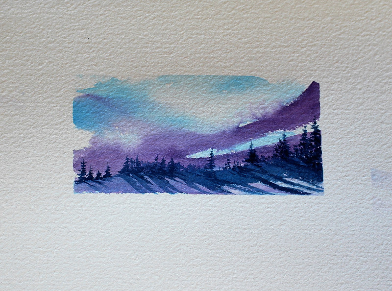Watercolor Morning Mist #2 by Wanda Hawse