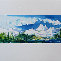 Watercolor Coquihalla #3 by Wanda Hawse