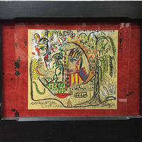 "Xochiquetzal Peace Garden - 20""Wx16""H *Framed * by Diane Green"