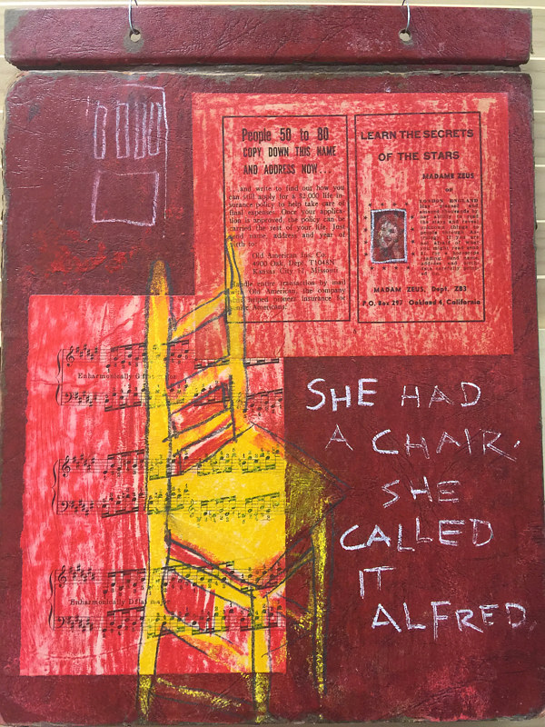 "Chair Called Alfred - 10""w x 13""t by Diane Green"
