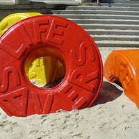 Sculpture Lifesaver by Laurie Cochrane