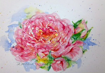 Painting Full Bloom by Deborah Carman