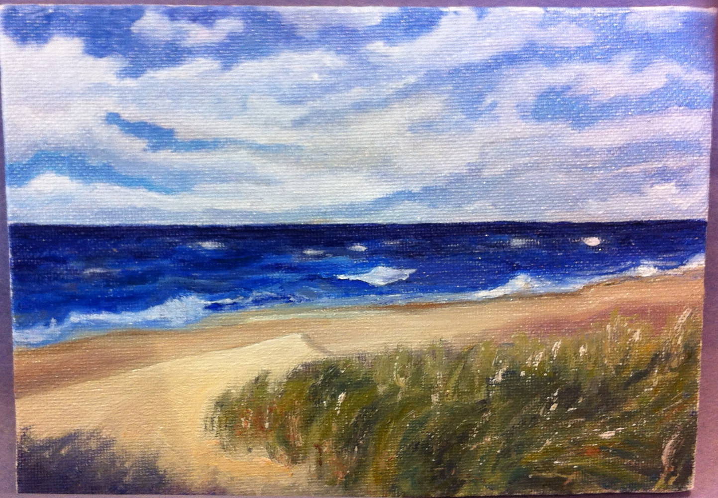 Oil painting WINDSWEPT by Anastasia O'melveny
