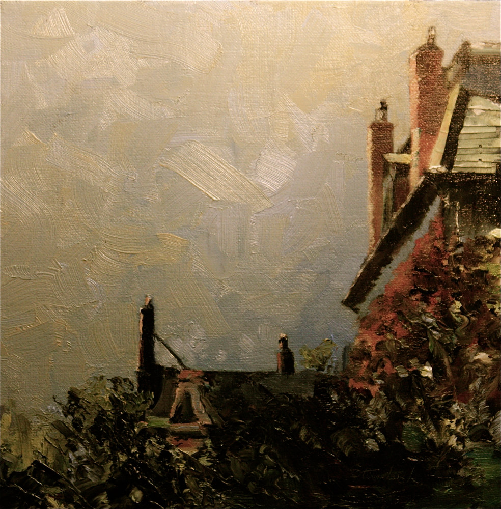 Oil painting Arlington at Berkeley, Boston...avaiable at the Bowersock Gallery, Provincetown, MA. by Nella Lush