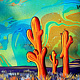 Orange Saguaros  by Isaac Carpenter